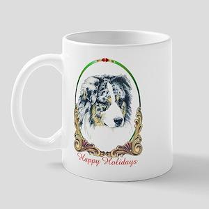 Merle Aussie Shepherd Holiday Mug