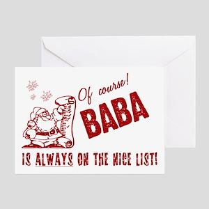 Nice List Baba Greeting Card