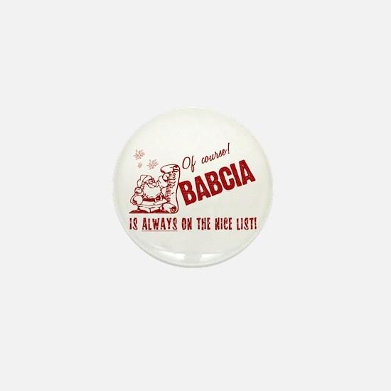 Nice List Babcia Mini Button