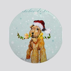 Lakeland Holiday Santa Ornament (Round)