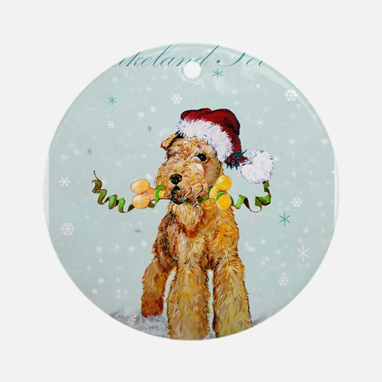 Lakeland Holiday Santa Ornament (Round)