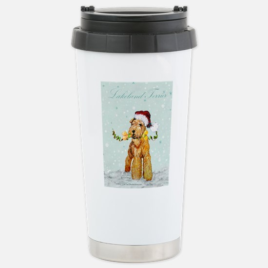 Lakeland Holiday Santa Stainless Steel Travel Mug