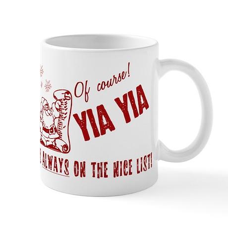 Nice List Yia Yia Mug