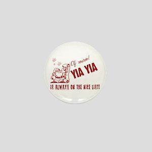 Nice List Yia Yia Mini Button