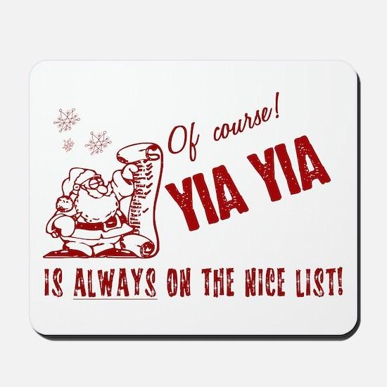 Nice List Yia Yia Mousepad