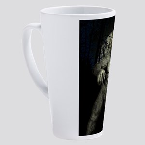 GHOST APE 17 oz Latte Mug