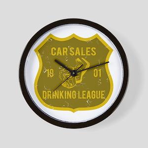 Car Sales Drinking League Wall Clock