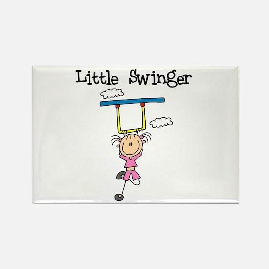 Little Swinger (girl) Rectangle Magnet