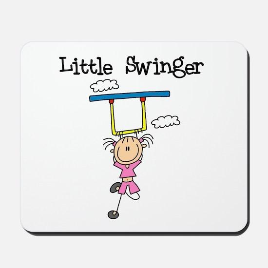 Little Swinger (girl) Mousepad