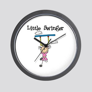 Little Swinger (girl) Wall Clock