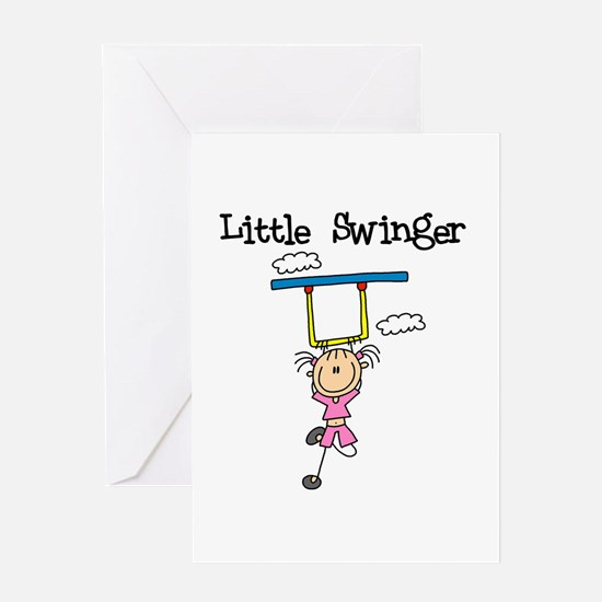 Little Swinger (girl) Greeting Card