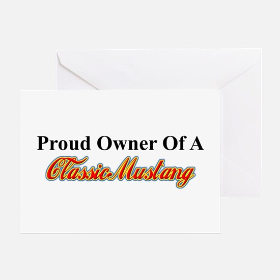 """Proud of My Classic Mustang"" Greeting C"