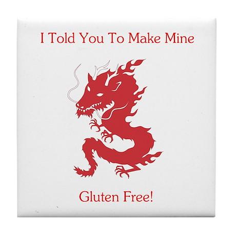 Gluten Free Dragon Tile Coaster