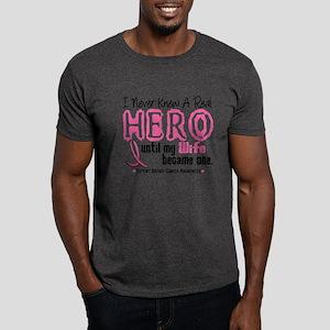 Never Knew A Hero 4 PINK (Wife) Dark T-Shirt