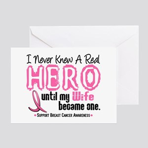 Never Knew A Hero 4 PINK (Wife) Greeting Card
