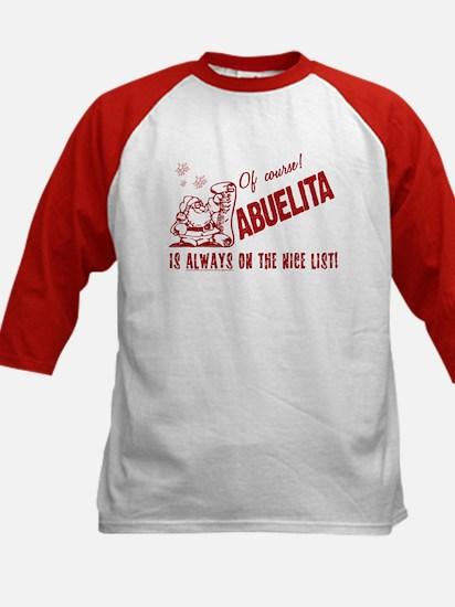 Nice List Abuelita Kids Baseball Jersey