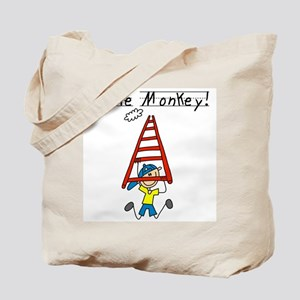 Stick Figure Little Monkey Tote Bag