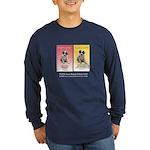 Puppy Love Wine Label Long Sleeve Dark T-Shirt