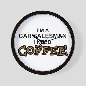 Car Salesman Need Coffee Wall Clock