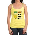Irish You Were Beer Jr. Spaghetti Tank