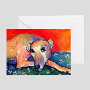 Greyhound dog 2 Greeting Card