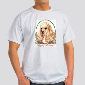 Buff Cocker Spaniel Holiday Ash Grey T-Shirt