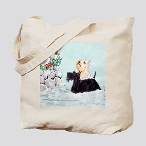 Scotties and Wren Winter Tote Bag