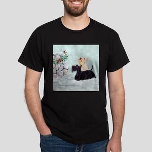 Scotties and Wren Winter Dark T-Shirt