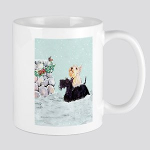 Scotties and Wren Winter Mug