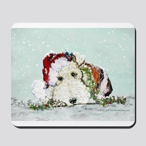 Fox Terrier Christmas Mousepad