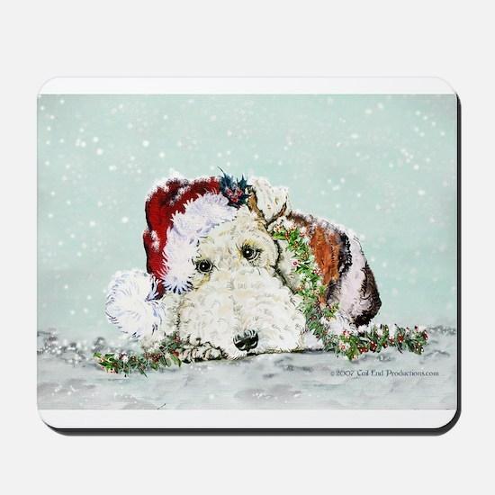 Fox Terrier Christmas Mousepad