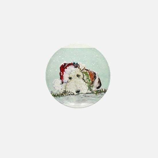 Fox Terrier Christmas Mini Button