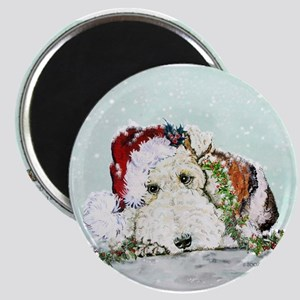Fox Terrier Christmas Magnet