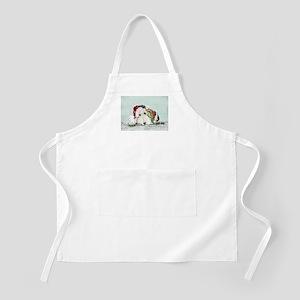 Fox Terrier Christmas BBQ Apron