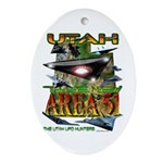 Utah The New Area 51 Oval Ornament