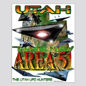 Utah The New Area 51 Small Poster