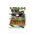 Utah The New Area 51 Rectangle Sticker