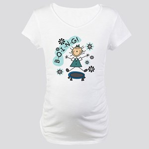 Girl on Trampoline Maternity T-Shirt