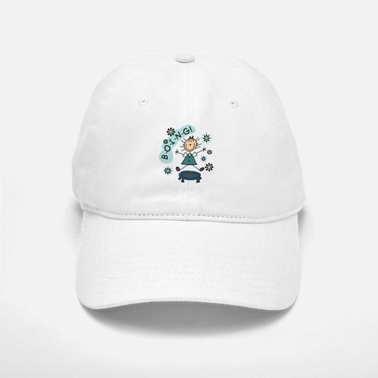 Girl on Trampoline Baseball Baseball Cap