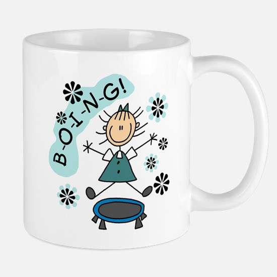 Girl on Trampoline Mug