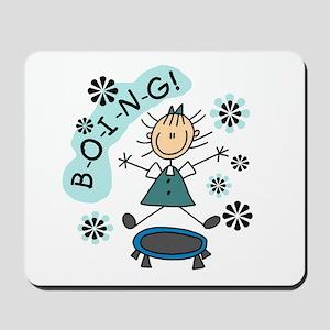 Girl on Trampoline Mousepad