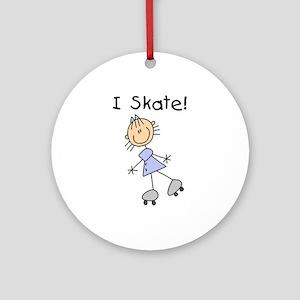 Girl I Skate Ornament (Round)