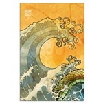 Large japanese wave Poster