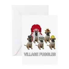 Village Puggles Greeting Card