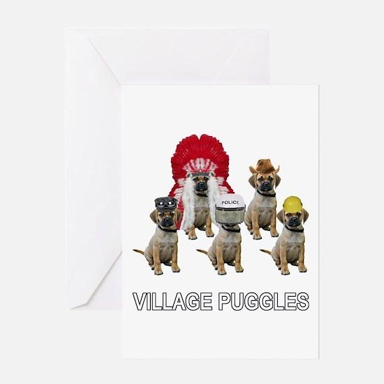 Village Puggles Greeting Card