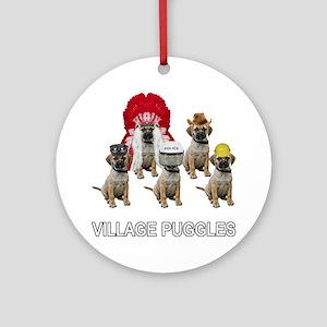 Village Puggles Ornament (Round)