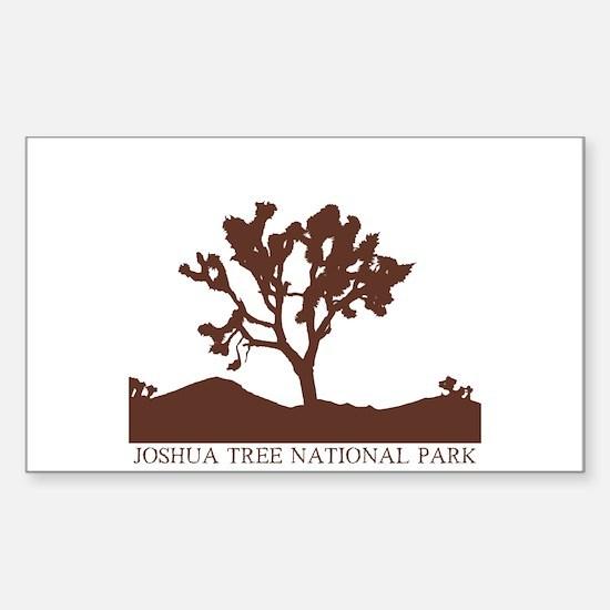 Joshua Tree Silhouette Rectangle Decal
