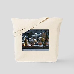 Snowy East Hillside Tote Bag