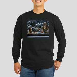 Snowy East Hillside Long Sleeve Dark T-Shirt