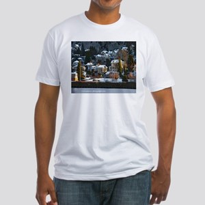 Snowy East Hillside Fitted T-Shirt